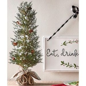 Faux Christmas Pine Tree Holiday Decor Accent New